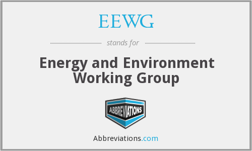EEWG - Energy and Environment Working Group
