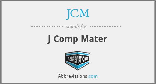 JCM - J Comp Mater