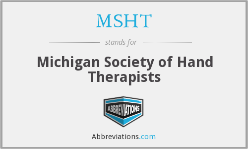 MSHT - Michigan Society of Hand Therapists