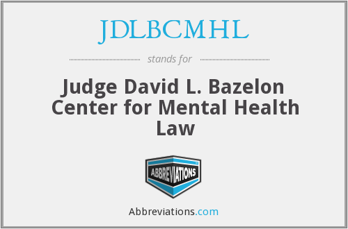 What does JDLBCMHL stand for?
