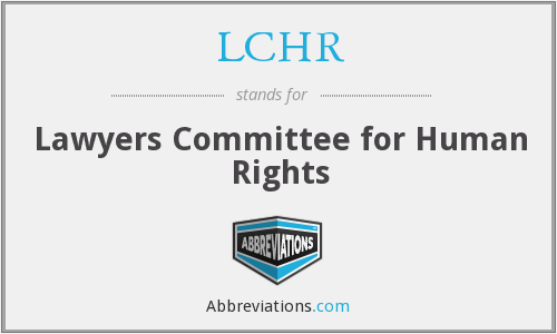 What does LCHR stand for?