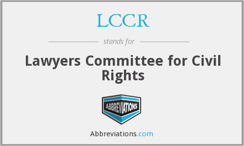 What does LCCR stand for?