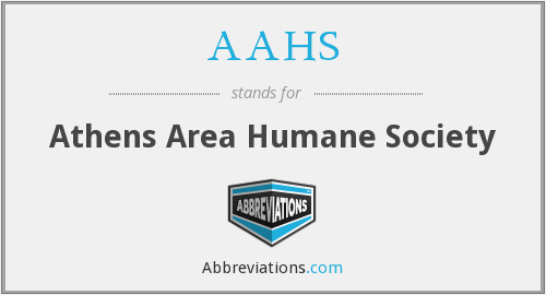 AAHS - Athens Area Humane Society