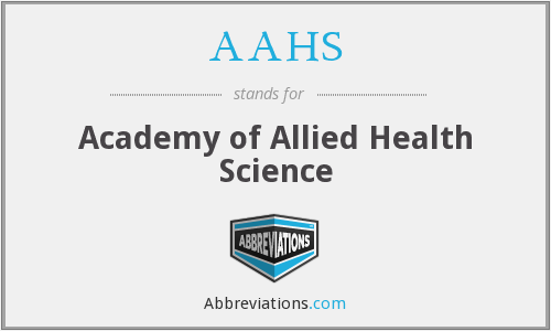 AAHS - Academy of Allied Health Science
