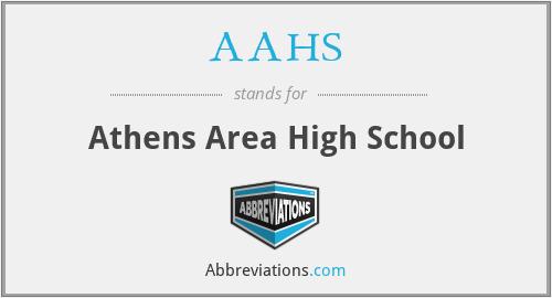AAHS - Athens Area High School
