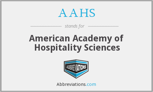 AAHS - American Academy of Hospitality Sciences