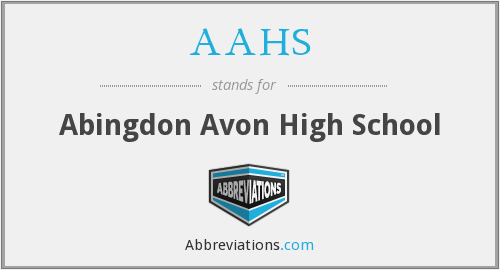 What does AAHS stand for?