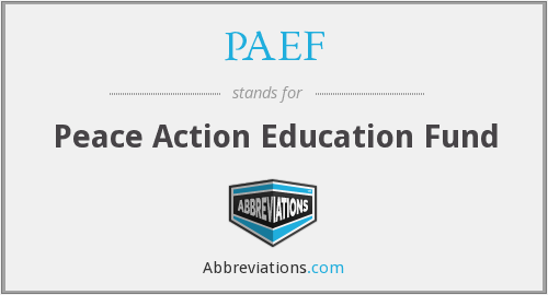 PAEF - Peace Action Education Fund