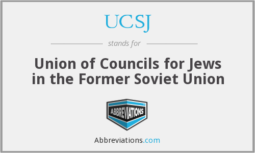 What does UCSJ stand for?