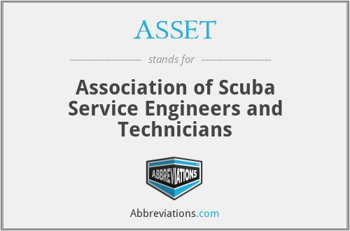 ASSET - Association of Scuba Service Engineers and Technicians