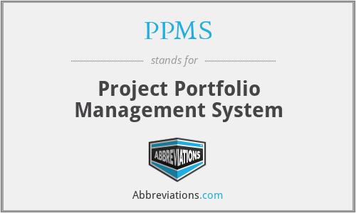 PPMS - Project Portfolio Management System