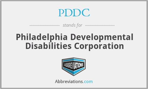 PDDC - Philadelphia Developmental Disabilities Corporation