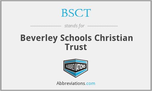 BSCT - Beverley Schools Christian Trust
