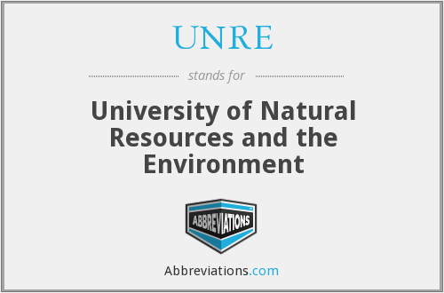 UNRE - University of Natural Resources and the Environment
