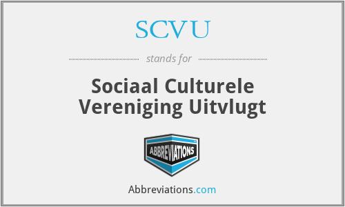 SCVU - Sociaal Culturele Vereniging Uitvlugt