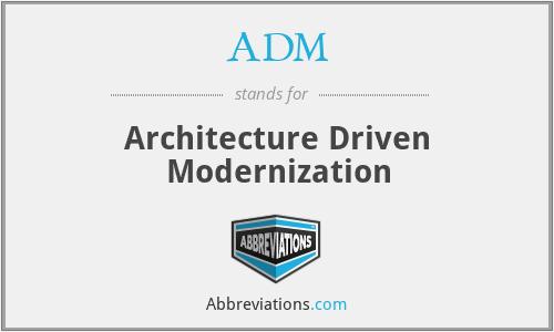 ADM - Architecture Driven Modernization
