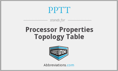 PPTT - Processor Properties Topology Table