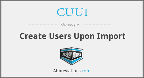 What does CUUI stand for?