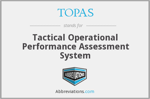 TOPAS - Tactical Operational Performance Assessment System