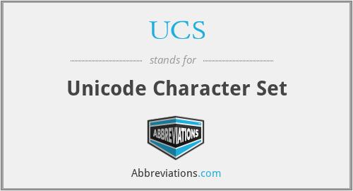 UCS - Unicode Character Set
