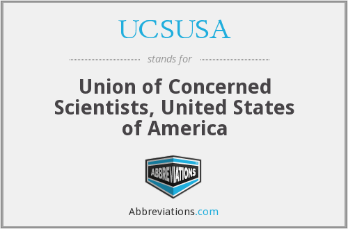 UCSUSA - Union of Concerned Scientists, United States of America