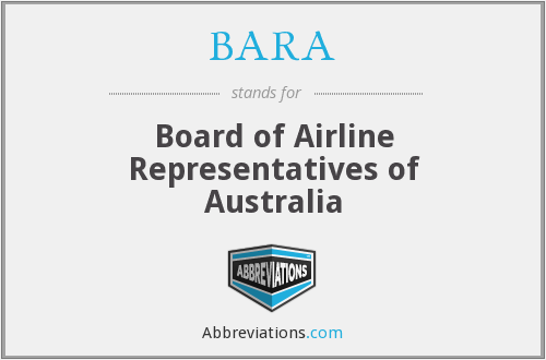 BARA - Board of Airline Representatives of Australia