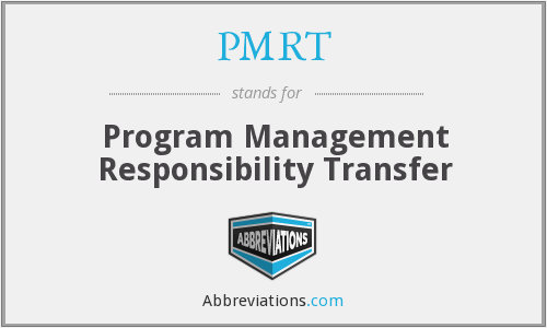What does PMRT stand for?