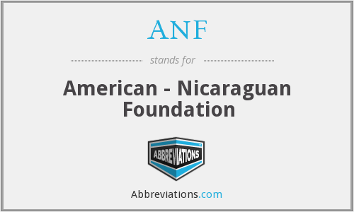 ANF - American - Nicaraguan Foundation