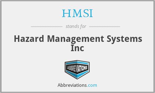 HMSI - Hazard Management Systems Inc