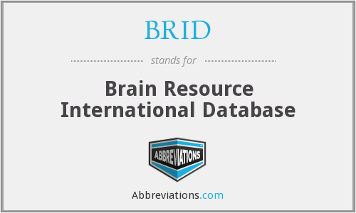 BRID - Brain Resource International Database