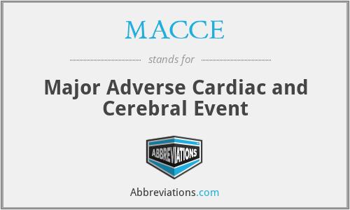 MACCE - Major Adverse Cardiac and Cerebral Event