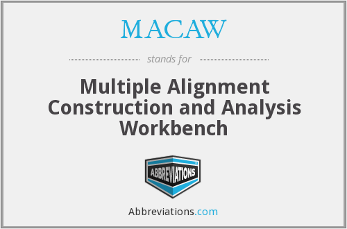 MACAW - Multiple Alignment Construction and Analysis Workbench