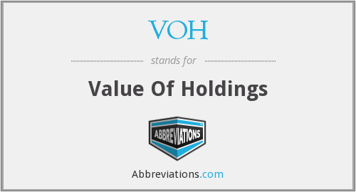 VOH - Value Of Holdings
