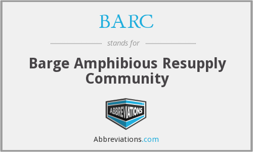 BARC - Barge Amphibious Resupply Community