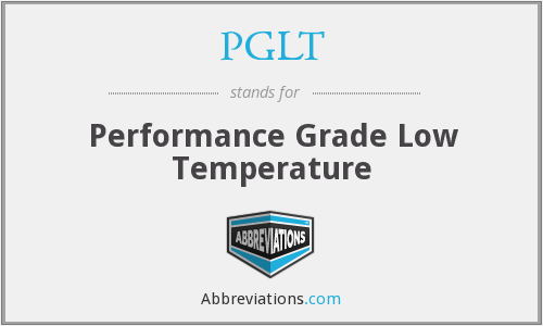 What does PGLT stand for?