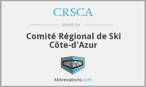 What does CRSCA stand for?