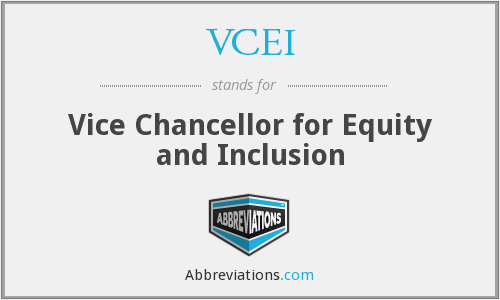 VCEI - Vice Chancellor for Equity and Inclusion