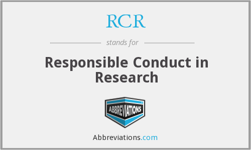 RCR - Responsible Conduct in Research