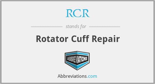 RCR - Rotator Cuff Repair
