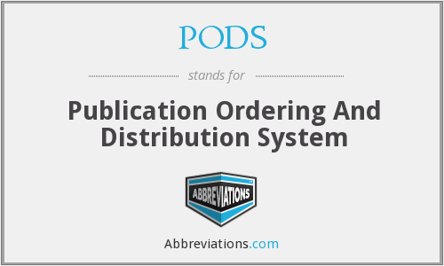 PODS - Publication Ordering And Distribution System