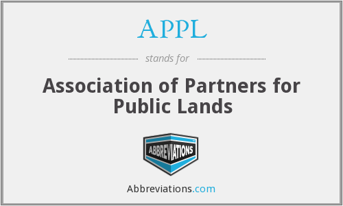 APPL - Association of Partners for Public Lands
