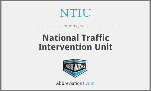 NTIU - National Traffic Intervention Unit