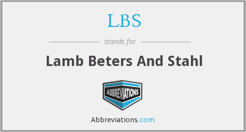 LBS - Lamb Beters And Stahl