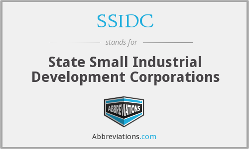 SSIDC - State Small Industrial Development Corporations