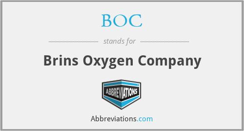 BOC - Brins Oxygen Company