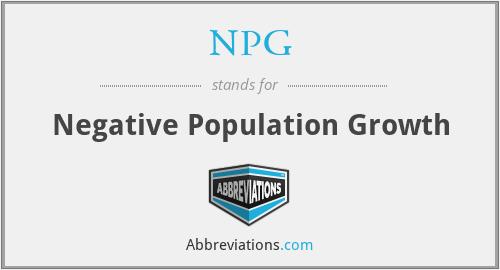 NPG - Negative Population Growth