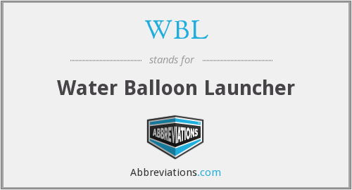 WBL - Water Balloon Launcher
