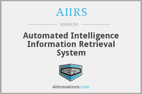 What does AIIRS stand for?