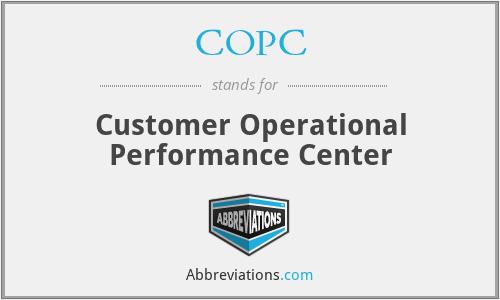 COPC - Customer Operational Performance Center