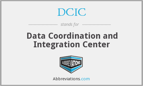 DCIC - Data Coordination and Integration Center